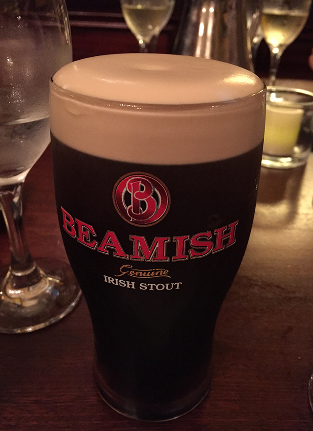 Drinking Beamish in Ireland