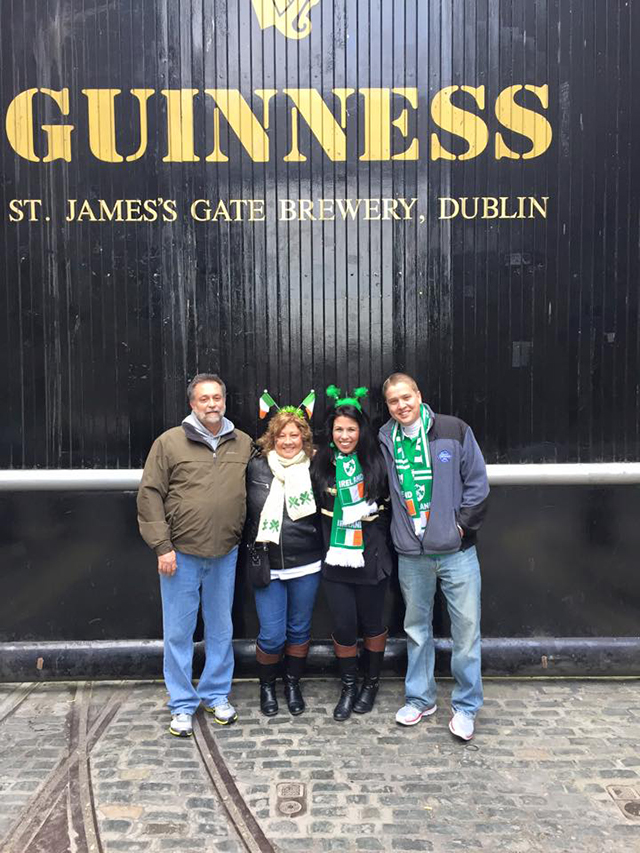 Nic and his family at Guinness Factory