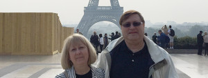 Jodie in front of the Eiffel Tower in Paris, France