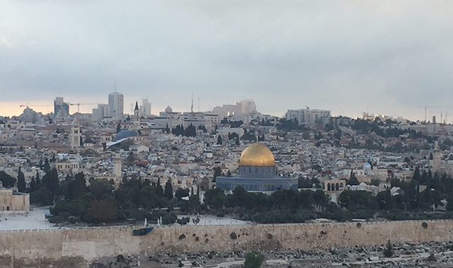 View of the Dome of Rock in Jerusalem