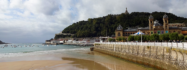 Visit the beach in San Sebastian, Spain