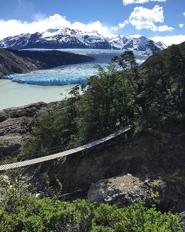 A glacier in Torres del Paine National Park in Chile, Patagonia