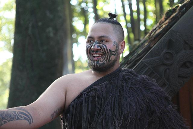 The Maori people in Rotorua, New Zealand