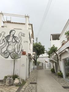 Street art in Capri, Italy