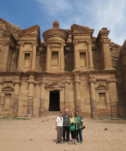 Denise and her group in Petra, Jordan
