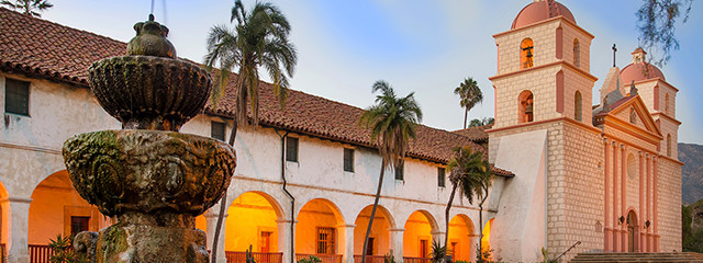 The Old Mission in Santa Barbara, California
