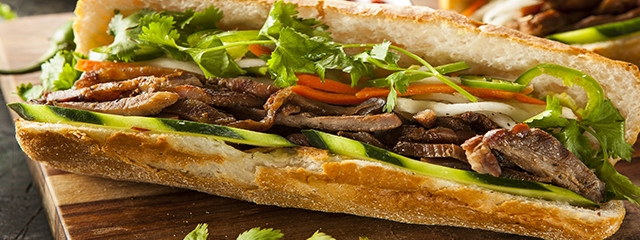 Banh mi street food in Thailand