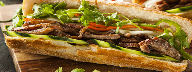 Banh mi street food in Vietnam
