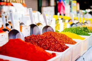 Spices at the Carmel Market (Shuk HaCarmel) in Tel Aviv, Israel