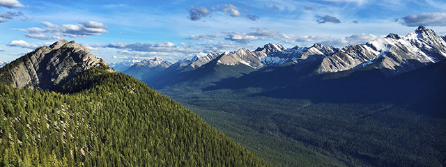 View from sulphur mountain summit in Banff