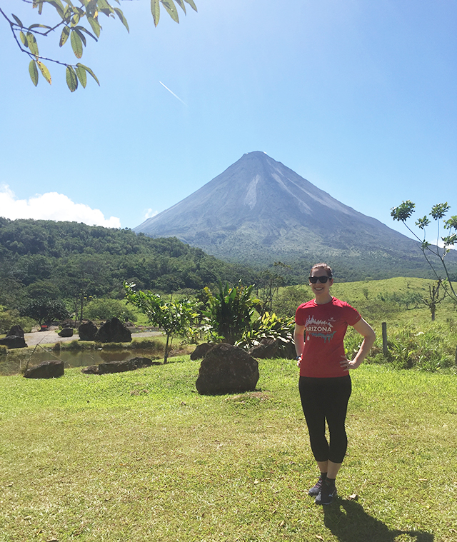 Melissa at Arenal volcano