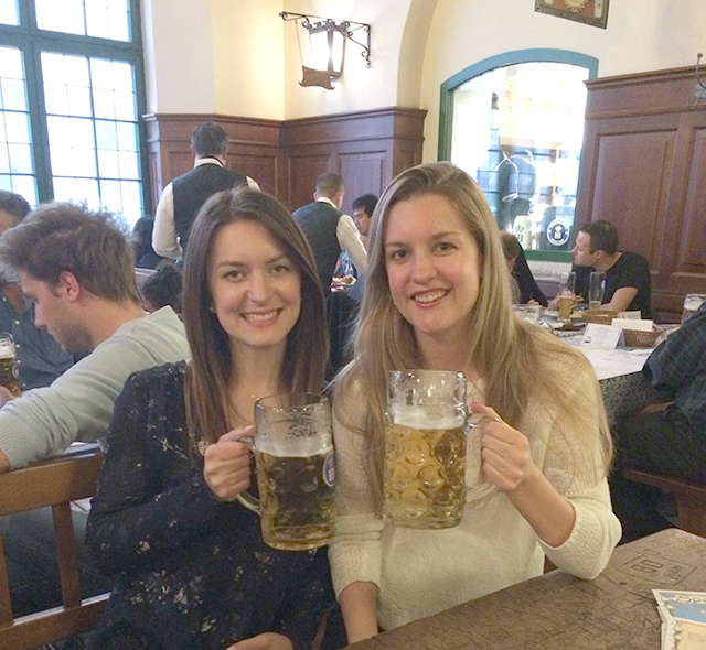 At Hofbrauhaus in Munich, Germany