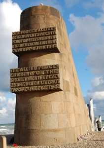A memorial at Omaha Beach