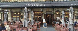 Follow Laura on tour: Relaxing at a French cafe