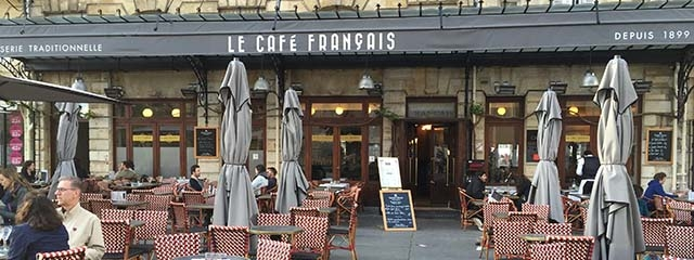 Le Cafe Francais in Bordeaux, France
