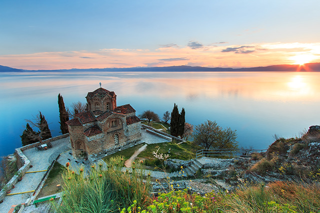 Lake Ohrid in the Balkans