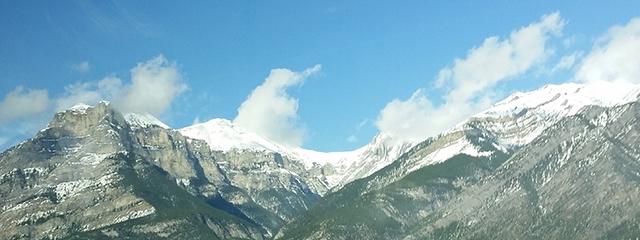 Sulphur Mountain gondola Canadian Rockies