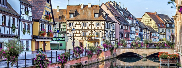 Petite France neighborhood in Strasbourg, France