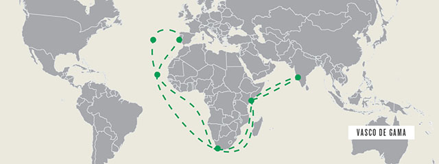 Vasco de Gama's route to India