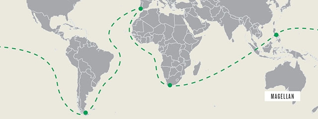Ferdinand Magellan's route around the world