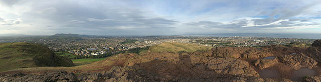 View from Arthur's Seat in Edinburgh, Scotland