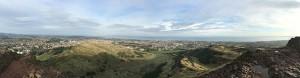 Panorama from Arthurs Seat in Edinburg, Scotland