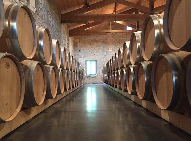 Wine cellar at Chateau de Ferrand in Saint Emilion France