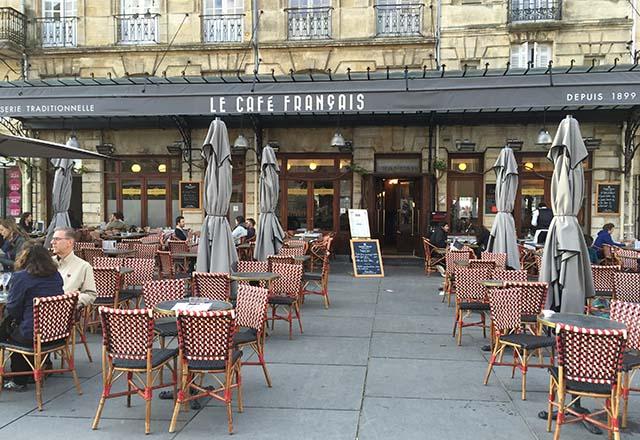 Le Cafe Francais in Bordeaux, France