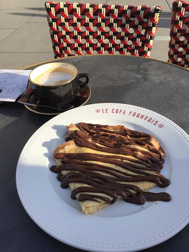 Crepes at Le Cafe Francais in Bordeaux, France