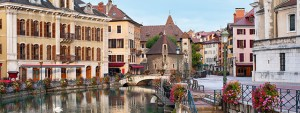 Annecy, France in the Alps region