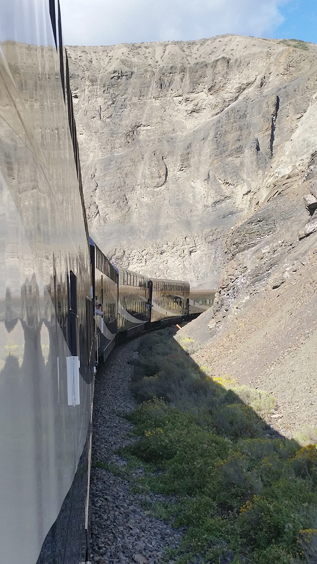 Riding through Canadian Rockies on the Rocky Mountaineer