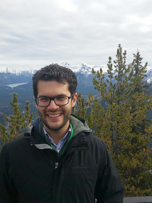 Brandon at the top of Sulphur Mountain