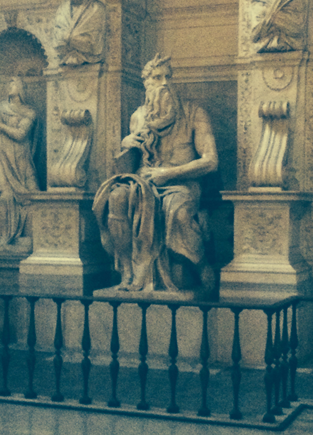 Moses statue in St. Peter in Chains