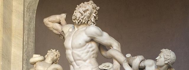 Greek sculptures in the Vatican Museum, Italy