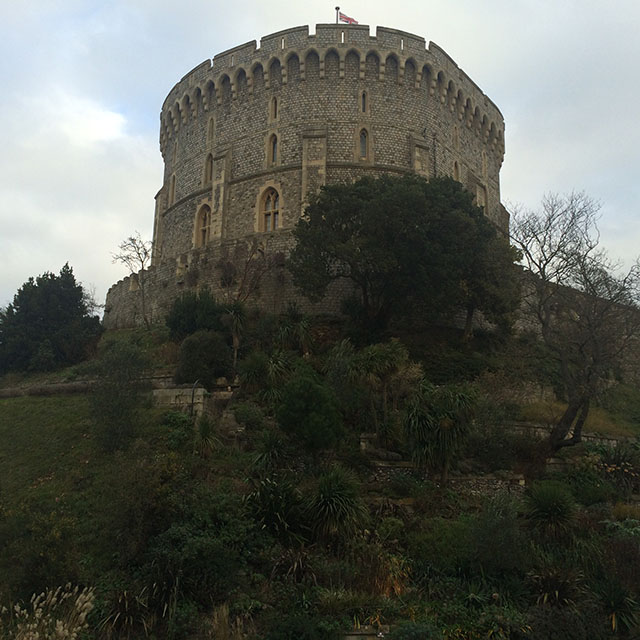 Round Tower at Windsor Castle, England