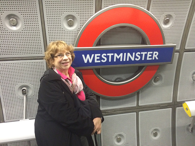 Taking the London tube to Westminster