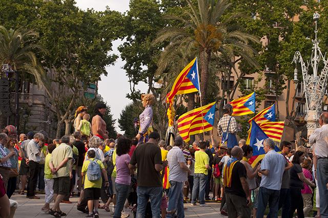 Parade in Barcelona, Spain