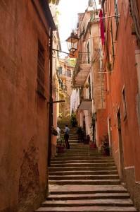Alleyway in Monterroso, Italy