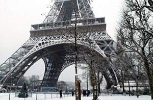 Winter in Paris, France