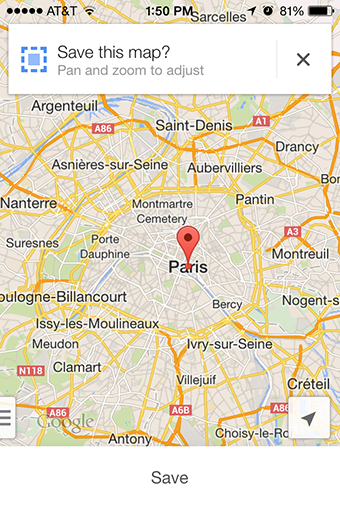 How To Save Travel Maps On Your Phone Go Ahead Tours Travel Blog - Paris france google maps