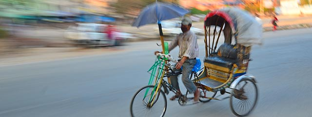 Rickshaw in motion