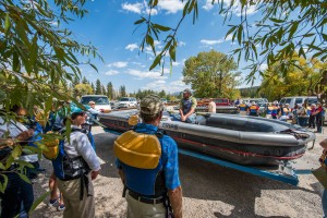 Getting ready to set off on the Snake River Float