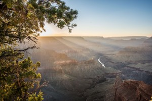 Sunlight over the Grand Canyon