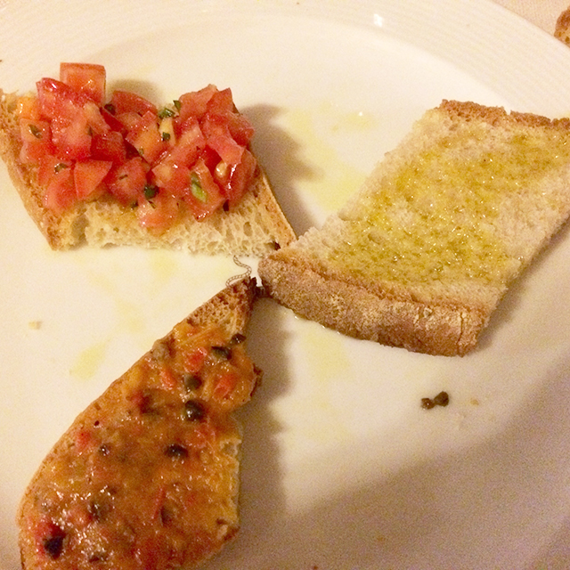 Bruschetta in Orvieto, Italy