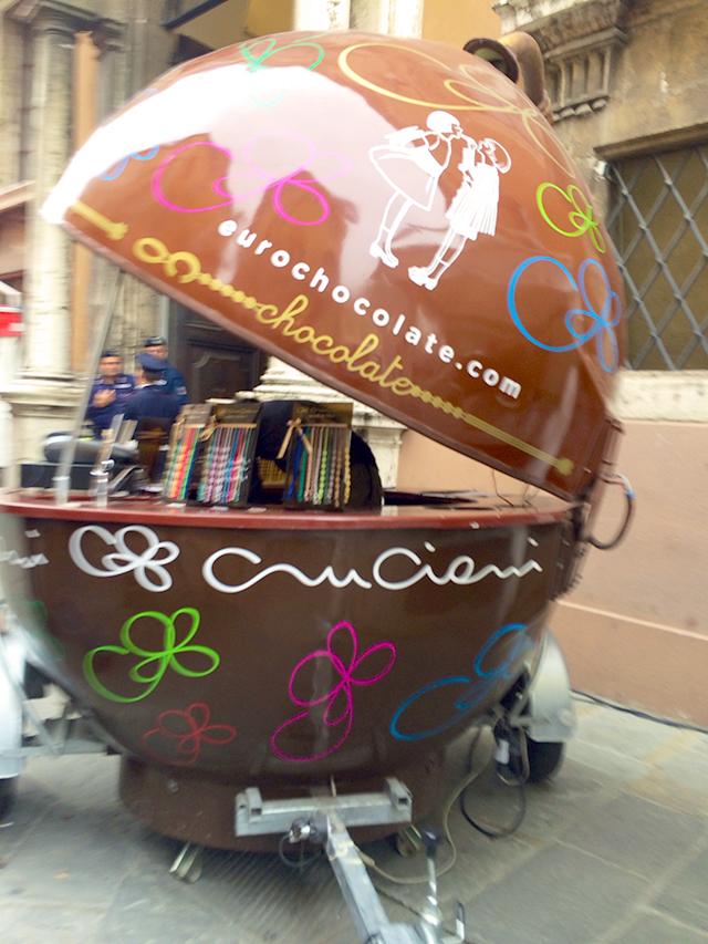 Chocolate festival in Perugia, Italy