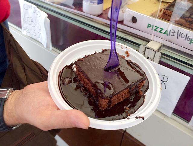 Chocolate torte in Perugia, Italy