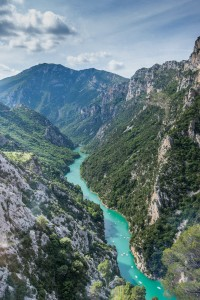 The Verdon Gorge is a popular spot for rock climbing, kayaking and hiking