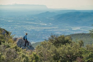 Looking out over the Luberon Valley