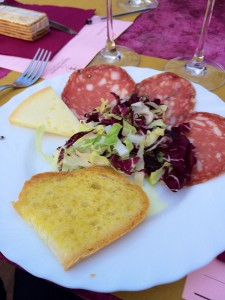 Lunch in San Gimignano, Italy
