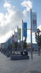 Flags in Galway, Ireland